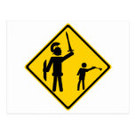 Road Sign David and Goliath Postcard
