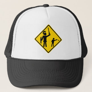 Road Sign David and Goliath Trucker Hat