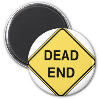 Road Sign - Dead End Magnet