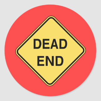 Road Sign - Dead End Sticker