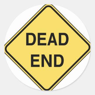 Road Sign - Dead End Round Sticker
