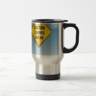 Road sign design travel mug