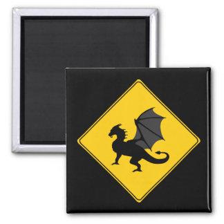 Road Sign- Dragon Magnet