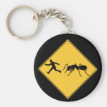 Road Sign- Giant Ant Basic Round Button Keychain