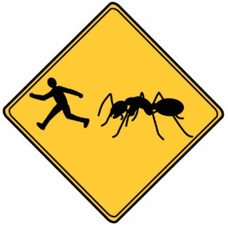 Road Sign- Giant Ant Cut Out Sculpture photosculpture