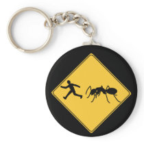 Road Sign- Giant Ant Keychain