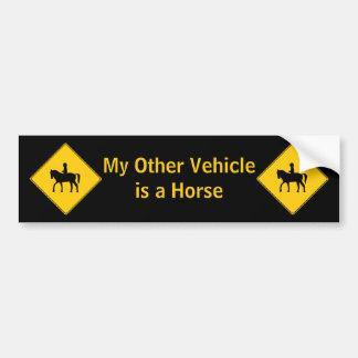 Road Sign- Horseback Rider Bumper Sticker
