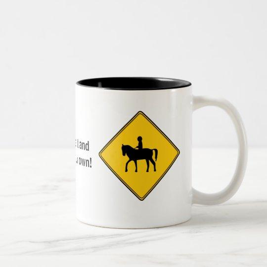 Road Sign- Horseback Rider Mug