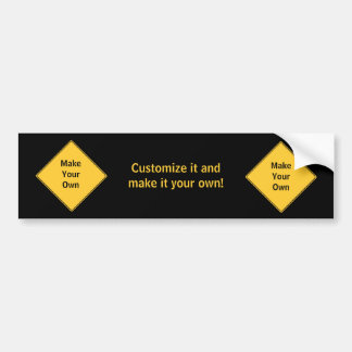 Road Sign- Make Your Own Bumper Sticker