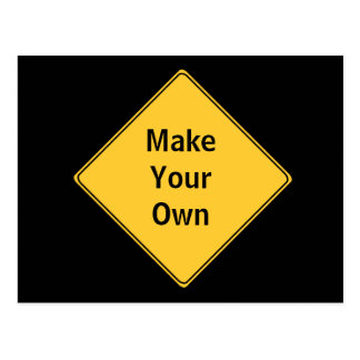 Road Sign- Make Your Own Postcard