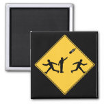 Road Sign- Meteor 2 Inch Square Magnet