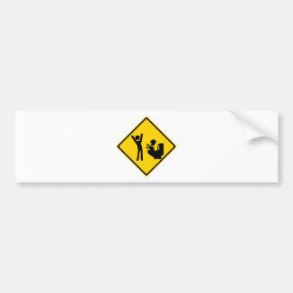Road Sign Poop Goblin 1 Car Bumper Sticker