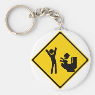 Road Sign Poop Goblin 1 Keychain