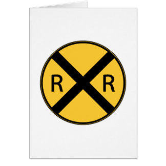 Road Sign Railroad Crossing Card