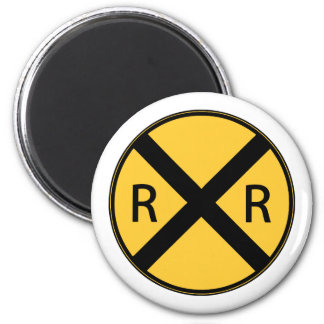 Road Sign Railroad Crossing Magnet