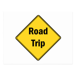 Road Sign- Road Trip Postcard