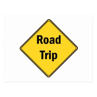 Road Sign- Road Trip Postcard