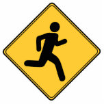 "Road Sign - Runner Cutout<br><div class=""desc"">Illustration of a runner in the form of a road sign.</div>"