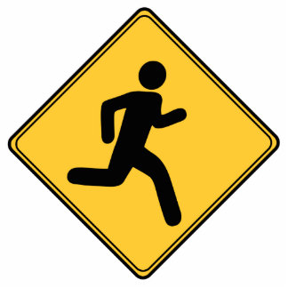 Road Sign - Runner Cutout