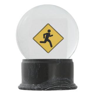Road Sign - Runner Snow Globe