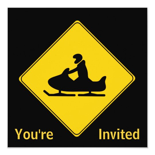 Road Sign- Snowmobile Card