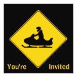 Road Sign- Snowmobile Custom Invite