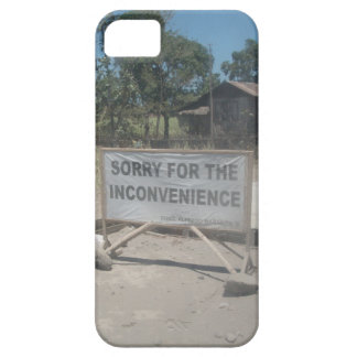 Road Sign: Sorry for the Inconvenience Iphone Case