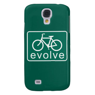 Road Sign Style EVOLVE Bicycle Art Samsung Galaxy S4 Cover
