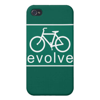 Road Sign Style EVOLVE Bicycle Art iPhone 4/4S Cases