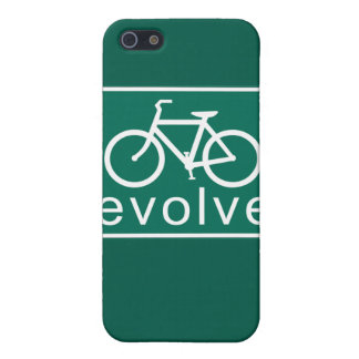 Road Sign Style EVOLVE Bicycle Art Cover For iPhone 5