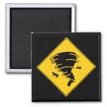 Road Sign- Tornado 2 Inch Square Magnet