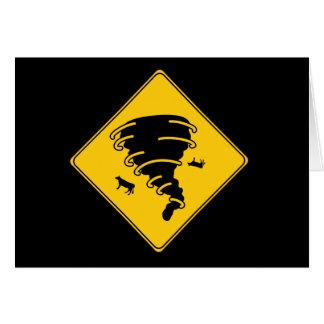 Road Sign- Tornado Greeting Card