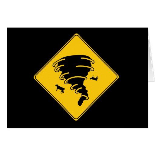 Road Sign- Tornado Card