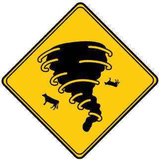 Road Sign- Tornado Cutout