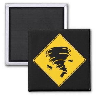 Road Sign- Tornado Refrigerator Magnet