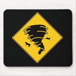 Road Sign- Tornado Mouse Pad