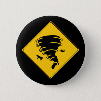 Road Sign- Tornado Pinback Button