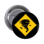 Road Sign- Tornado Pinback Button