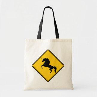 Road Sign Unicorn Tote Bag