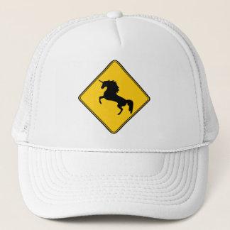 Road Sign Unicorn Trucker Hat