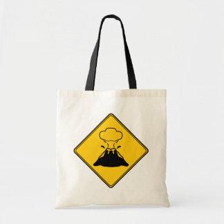 Road Sign- Volcano Budget Tote Bag