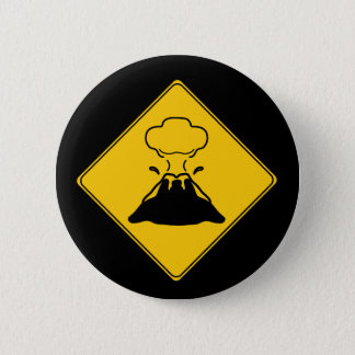 Road Sign- Volcano Button