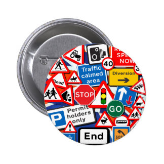 Road Signs Pinback Buttons