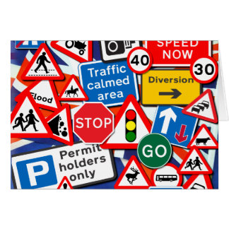 Road Signs Card