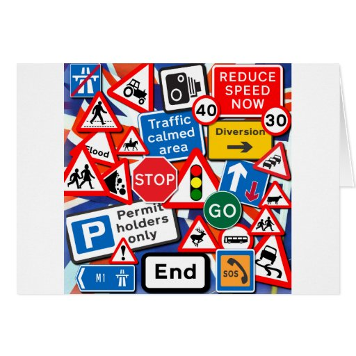 Road Signs Greeting Cards