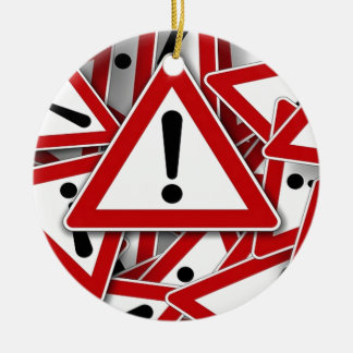 Road Signs ! Double-Sided Ceramic Round Christmas Ornament