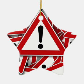 Road Signs ! Double-Sided Star Ceramic Christmas Ornament
