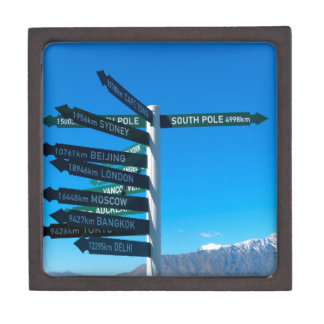 Road signs jewelry box