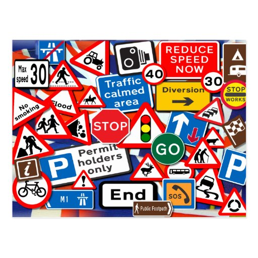 Road Signs Post Cards