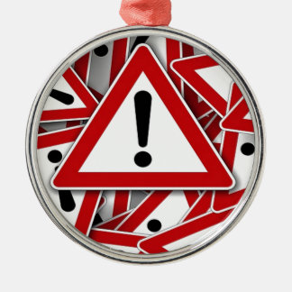 Road Signs ! Round Metal Christmas Ornament